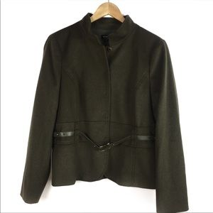 Worth Wool and Cashmere Olive Green Jacket Size 14